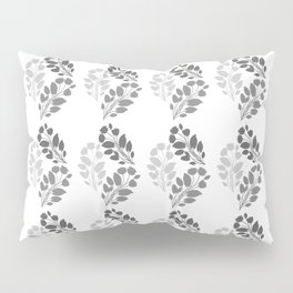 Metal Floral Pillow Sham