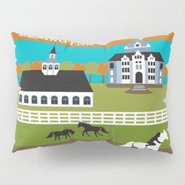Lexington, Kentucky - Skyline Illustration by Loose Petals Pillow Sham