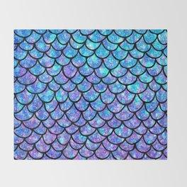 Purples & Blues Mermaid scales Throw Blanket