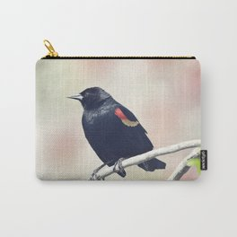 Red-Winged Blackbird on a branch Carry-All Pouch