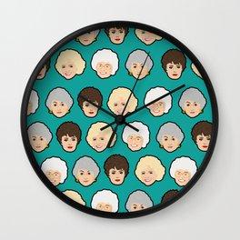 Golden Girls Green Pop Art Wall Clock
