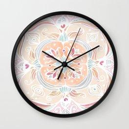 Tropical Mandala Wall Clock