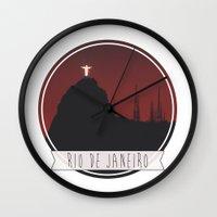 rio de janeiro Wall Clocks featuring RIO DE JANEIRO by Alexandre Ormond