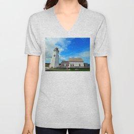 East Point PEI Lighthouse Unisex V-Neck