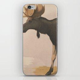 Vintage Illustration of a Moose (1874) iPhone Skin