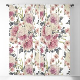 FLORAL PATTERN 5 Blackout Curtain