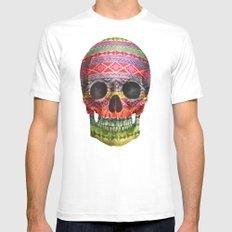 Navajo Skull  Mens Fitted Tee White MEDIUM