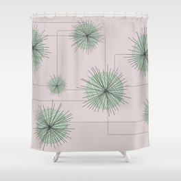 Mid Century Design Pattern Geometrical Shower Curtain