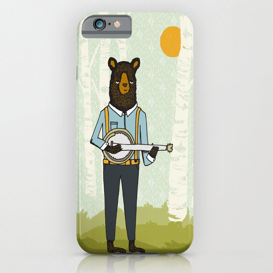 Bear's Bourree - Bear Playing Banjo iPhone & iPod Case