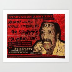 Show Flyer, 1/28/12 (Johnny and the Apple Stompers) Art Print