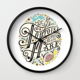 The Tortoise and the Hare art print Wall Clock