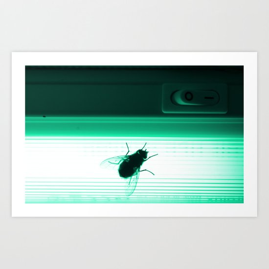 Neon Fly Art Print