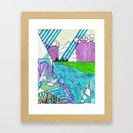 landscape of wonder Framed Art Print