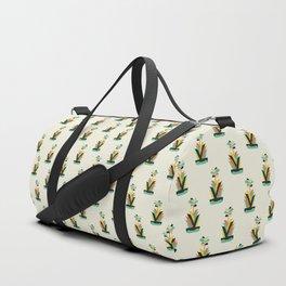 Exotic geometric plant Duffle Bag