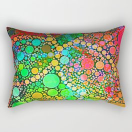 Colorful Bubble Pattern Abstract Rectangular Pillow