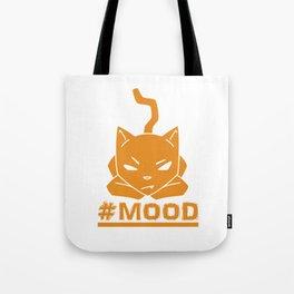 #MOOD Cat Orange Tote Bag