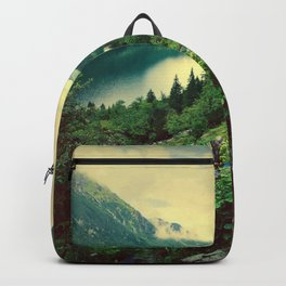Lake In Mountains Backpack