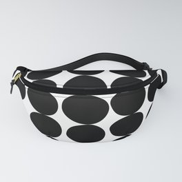 Midcentury Modern Dots Black and White Fanny Pack