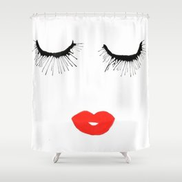 Lashes & Lips Shower Curtain