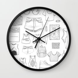 INSIDE HER CLOTHES Wall Clock