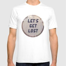 Let's Get Lost Mens Fitted Tee White MEDIUM