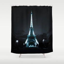 parIS Aqua & Slate Shower Curtain