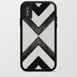 Converging Triangles Black and White Moroccan Tile Pattern iPhone Case