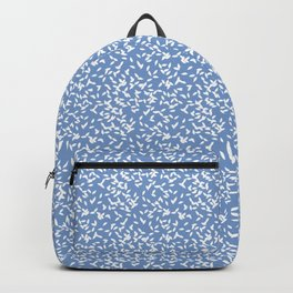 Leaves on blue background Backpack