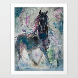 Salt River Wild Horse Art Print