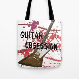 Guitar Obsession Tote Bag