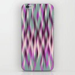 ikat texture weavy on celadon iPhone Skin