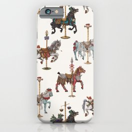 Four Carousel Horses of the Apocalypse - Square iPhone Case