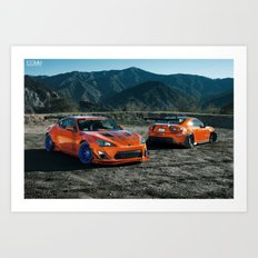 Rocket Bunny Scion FR-S Art Print
