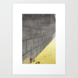 Dream induced by enforced repetition. Art Print