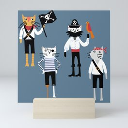 Pirate Cats Mini Art Print