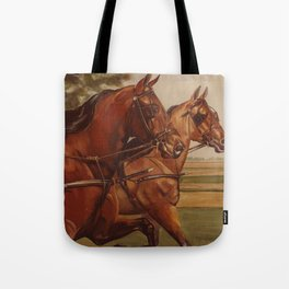Two Morgans in Harness Tote Bag
