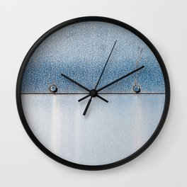Blue over Blue 02 Wall Clock