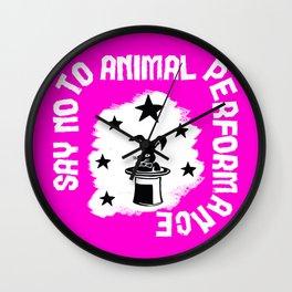 Say NO to Animal Performance – Rabbit Wall Clock