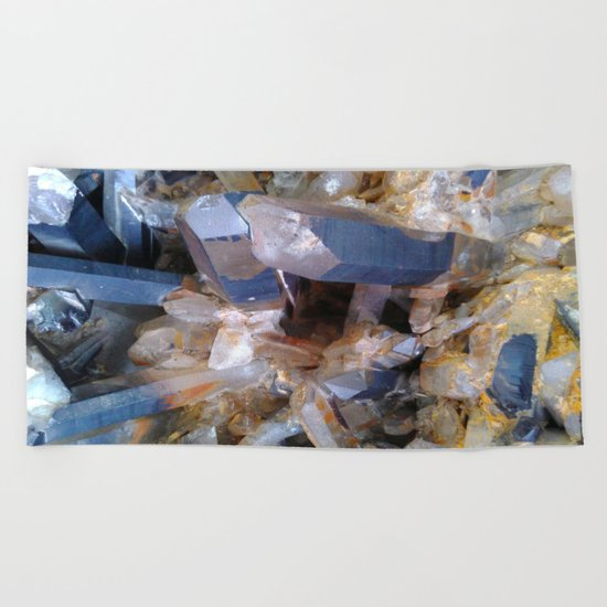 Mineral background Beach Towel