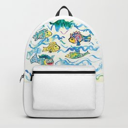 Funny fishes Backpack