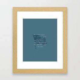 P + R History Framed Art Print