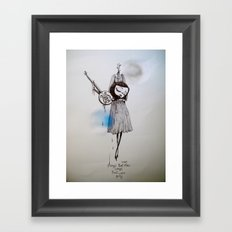 songs that were blue, songs that were grey Framed Art Print