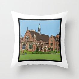 Cambridge struggles: Homerton College Throw Pillow