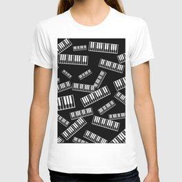 Piano pattern T-shirt