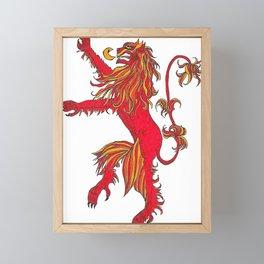 The Red Lion Framed Mini Art Print