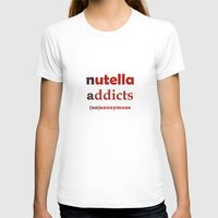 nutella T-shirts featuring Nutella Addicts Unanonymous by jozi.art