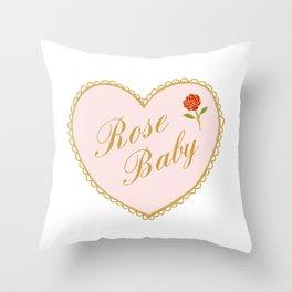 Rose Baby Throw Pillow