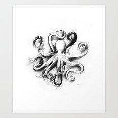 Flat Octopus Art Print