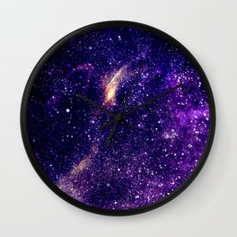 Ultra violet purple abstract galaxy Wall Clock