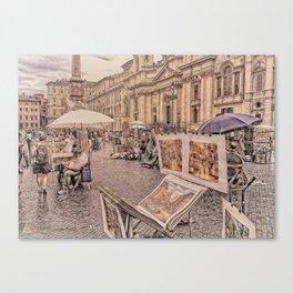 Strade di Roma Canvas Print
